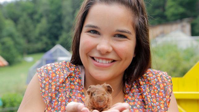 So sieht ein ein Tag altes Meerschweinchen aus. Tierreporterin Anna ist begeistert.