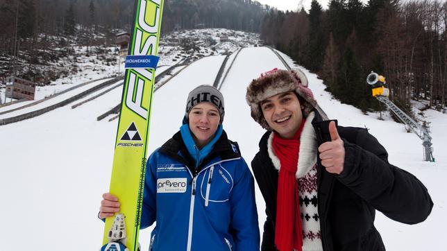 Checker Can Der Skisprung-Check: Checker Can mit Nachwuchsspringer Johannes Löhmann