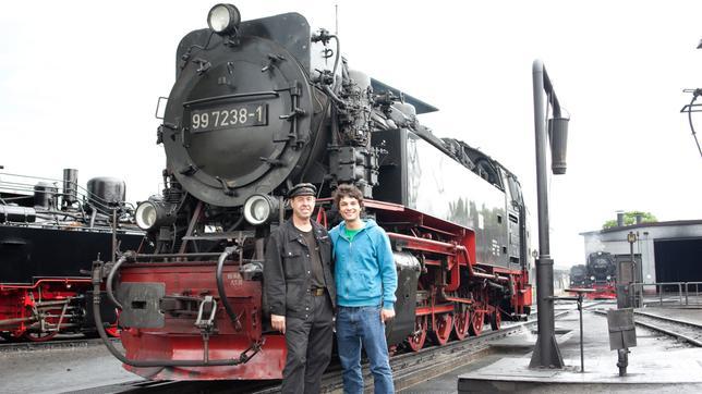 Checker Can Der Zug-Check: Checker Can mit Lokomotivführer Hans Niehaus
