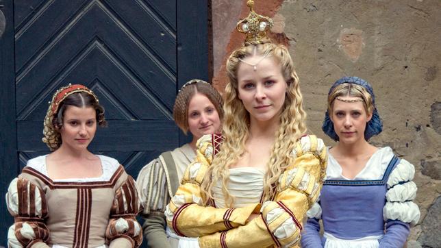 König Drosselbart Prinzessin Isabella von Geranien und ihre Zofen