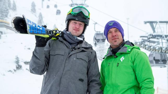 Johannes am Skilift