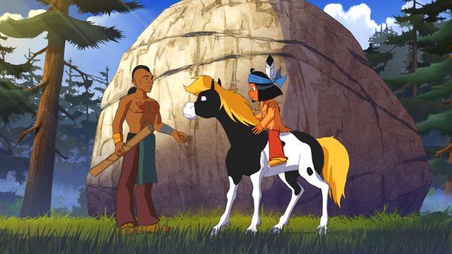 Krieger Fliegender Fuß ist der schnelle Bote eines anderen Stammes und trifft auf Yakari