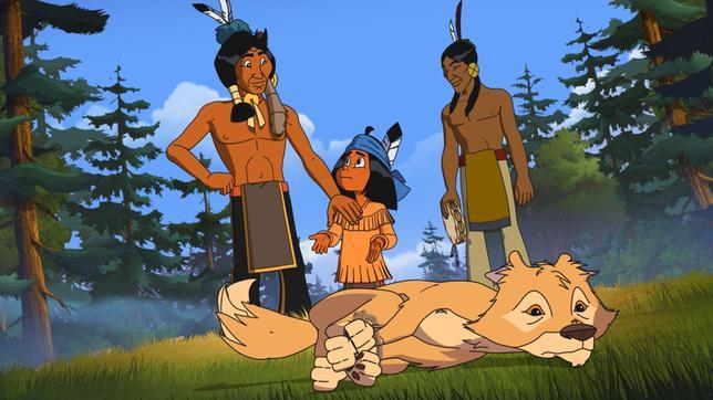 Yakari fühlt sich nicht wohl, dass sein Vater Kühner Blick und Stolze Wolke einen Kojoten gefangen haben.