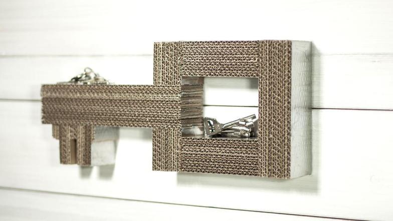 video schl sselablage aus karton ard buffet ard das erste. Black Bedroom Furniture Sets. Home Design Ideas