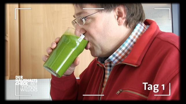 Carsten Giesen beim Smoothie-Test