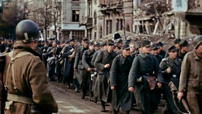 Deutsche Kriegsgefangene in Frankreich, 1945.