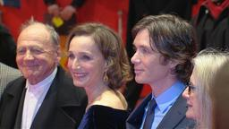 "Die Crew des Films ""The Party"": Bruno Ganz, Kristin Scott Thomas und Cillian Murhpy."