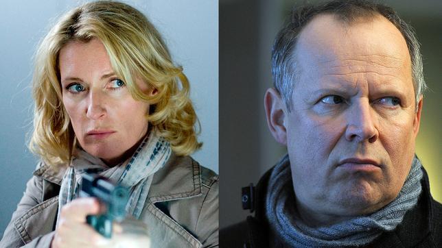 Maria Furtwängler und Axel Milberg ermitteln gemeinsam als Lindholm und Borowski im 1000. Tatort