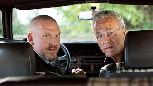 Freddy Schenk und Max Ballauf im Auto