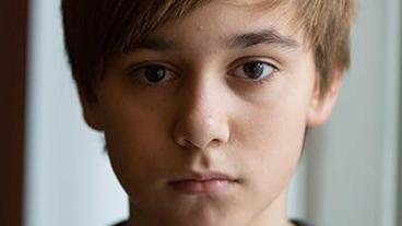 Louie Betton ist Kaleb Rubin (14).