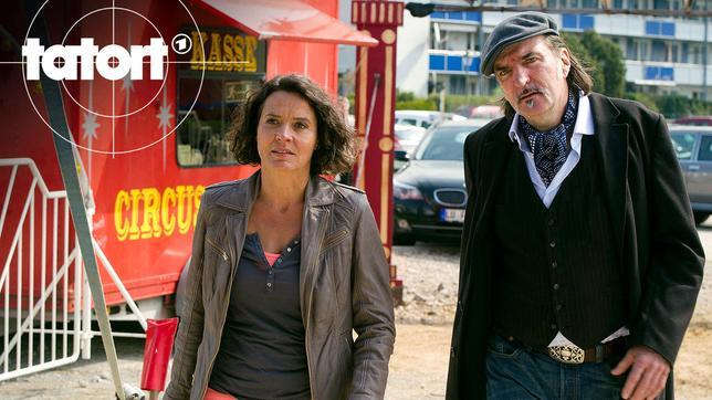 Lena Odenthal (Ulrike Folkerts) und Mario Kopper (Andreas Hoppe) bei den Ermittlungen im Zirkus Burani.