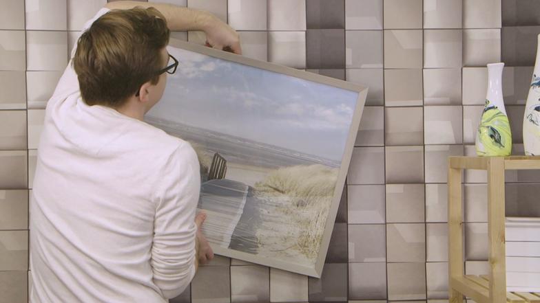 video trick um bilder aufzuh ngen wer wei denn sowas ard das erste. Black Bedroom Furniture Sets. Home Design Ideas