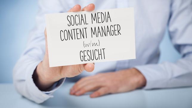 Stelle als Social Media Content Manager.