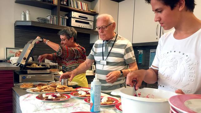 Praktikum in der Seniorenresidenz, auf der Suche nach dem Spaß im Alter.