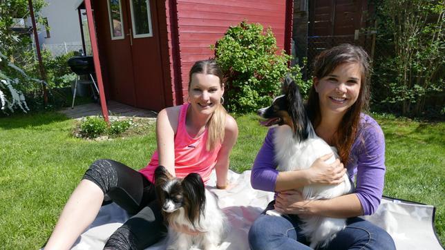 Anna bei Liane und ihren Hunden Dawina und Lina