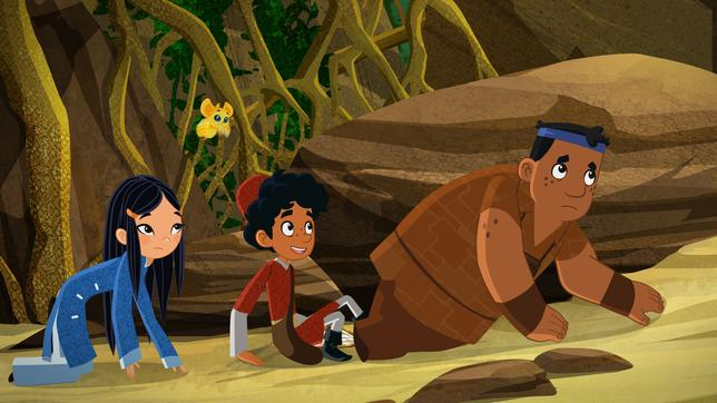 Endlich! Die Freunde stranden auf Madagaskar.