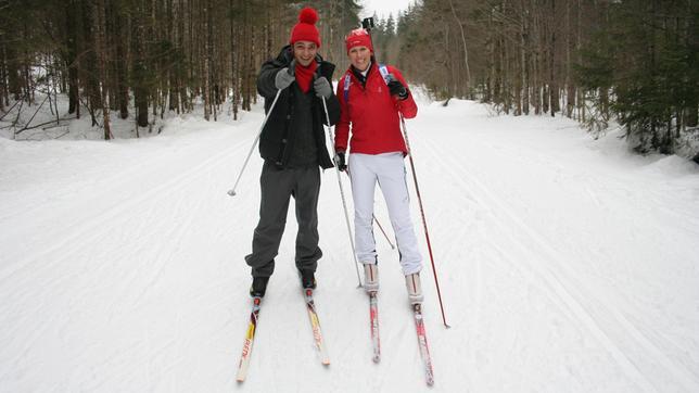 Checker Can Der Biathlon-Check: Checker Can mit Biathlon-Olympiasiegerin Kati Wilhelm