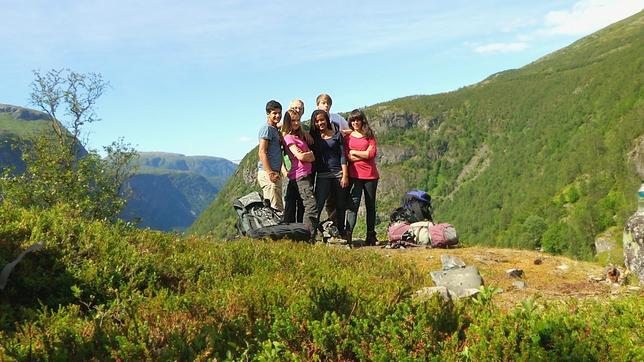 Gruppe: Leonie, Kimberly, Antonia, Caspar, Freddie und Philip