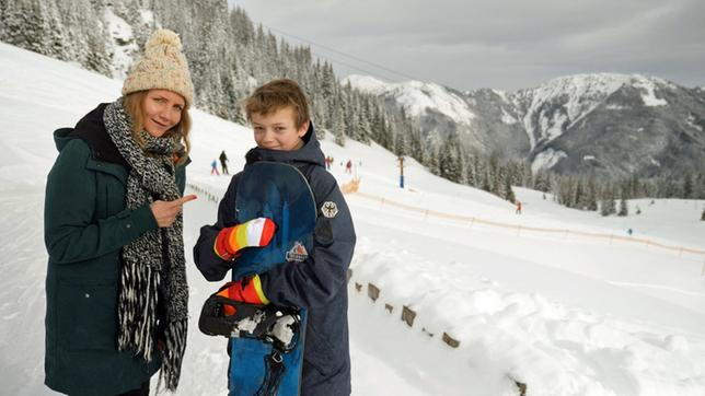 Jana und Moritz im Schnee
