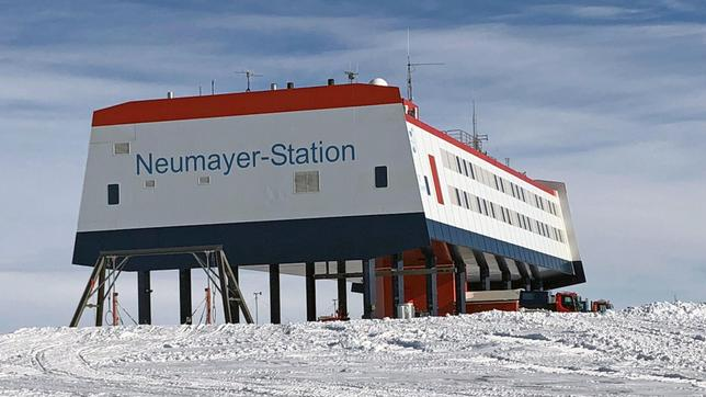 Neumayer-Forschungsstation in der Antarktis