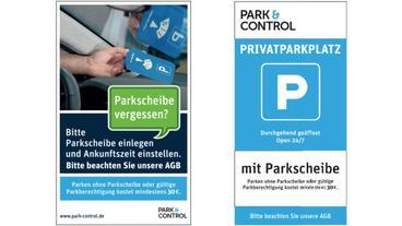 Die neuen Schilder von Park&Control