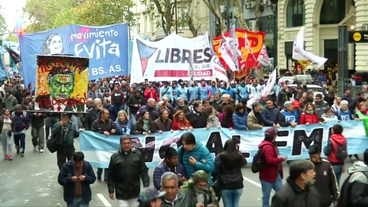 Demonstrationen in Argentinien.