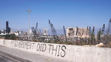 """My Government did this"" Graffiti in Beirut"
