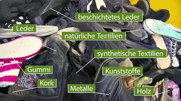 Schuhrecycling - wie geht das  - W wie Wissen - ARD   Das Erste ef1ea8d640