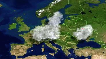 Radioaktive Belastung Europa